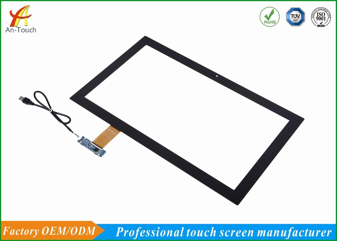 Transparent Capacitive Game Touch Screen Panel 21.5 Inch 3.0mm Cover Lens